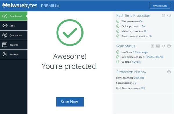Hướng dẫn chi tiết các bước tải Malwarebytes key miễn phí 100%