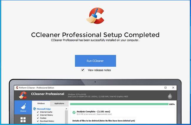 Nhấn Run CCleaner