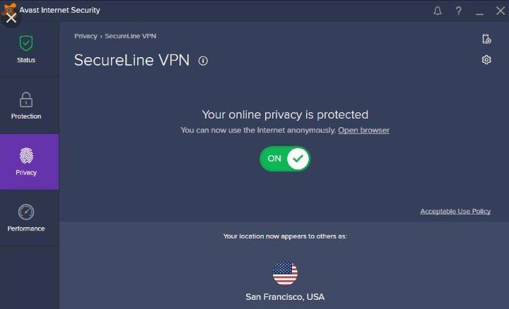 Những ưu điểm key avast secureline vpn mang lại