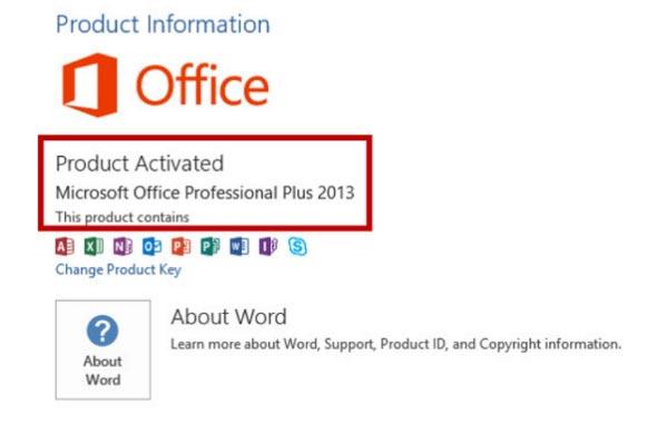 thành quả của chúng ta là phần mềm Office 2013