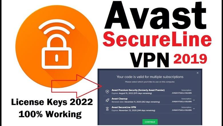 Phần mềm key avast secureline vpn - mạng riêng ảo đáng tin cậy
