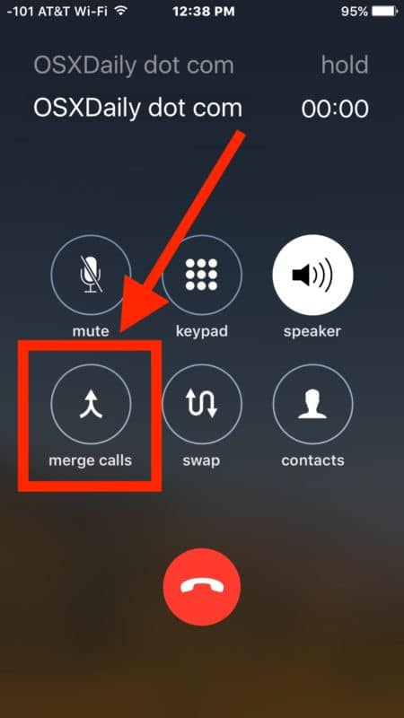 Tiếp tục chọn merge calls
