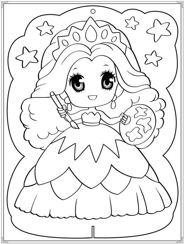 Tranh tô màu công chúa Ori xinh đẹp
