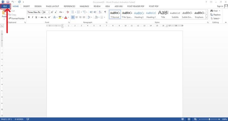 khởi động phần mềm Office 2013 lên
