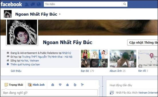 tên facebook hay