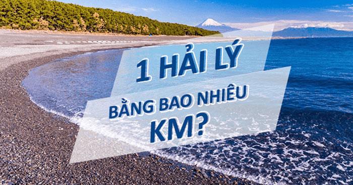 1 hải lý bằng bao nhiêu km