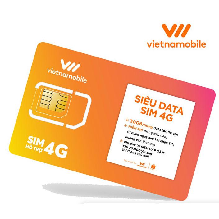 3G Vietnamobile với Sim Data