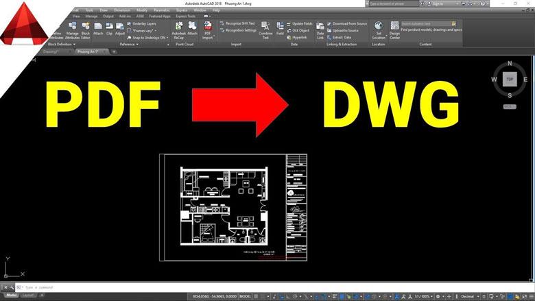 Hướng dẫn chuyển PDF sang Cad chi tiết nhất 2021