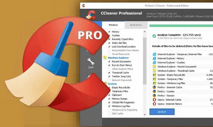 Key CCleaner Pro là phần mềm gì