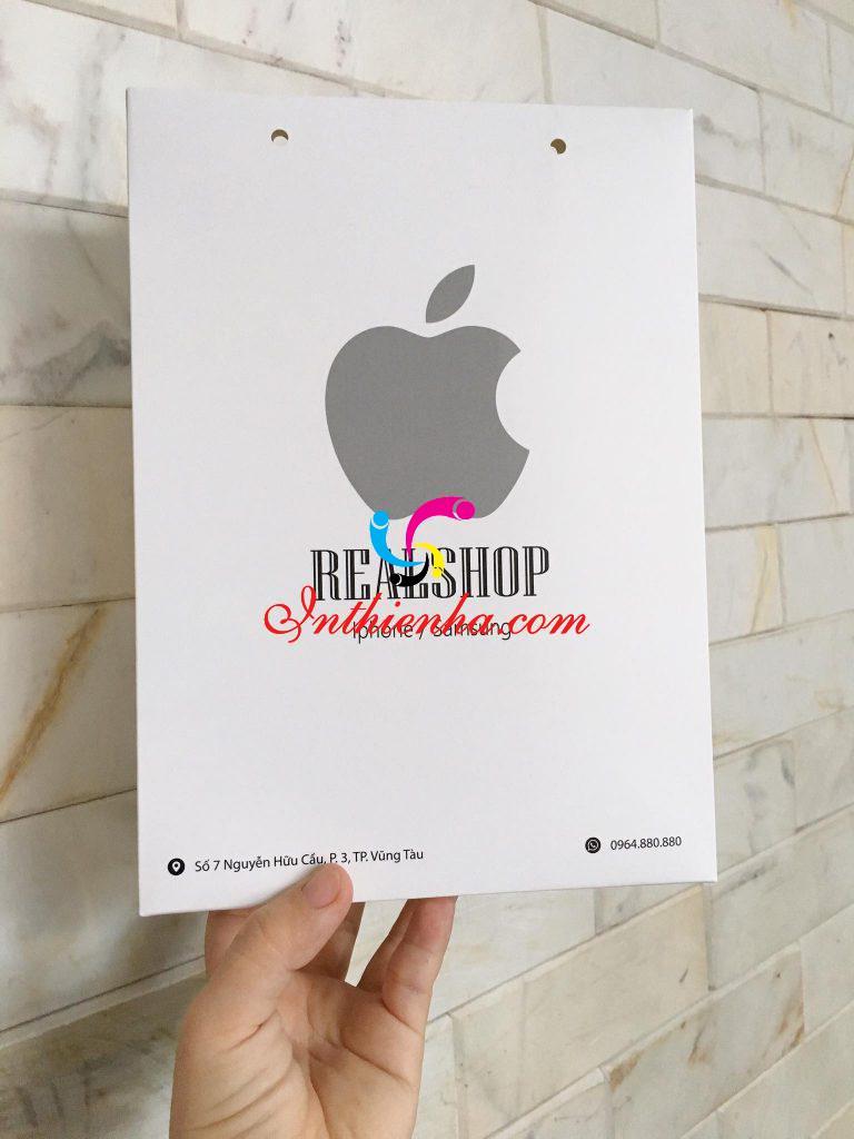 Mẫu túi giấy REAL SHOP