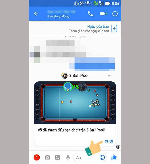 Một lời mời chơi game sẽ gửi cho bạn của bạn