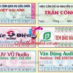 Cơ sở In tem bảo hành tại Hà Nội giá rẻ, chất lượng cao