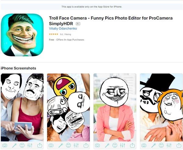 Troll Face Camera – Funny Pics Photo