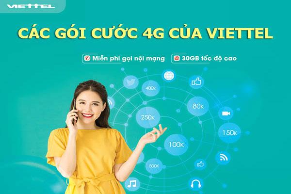 Các gói cước 4G của nhà mạng Viettel