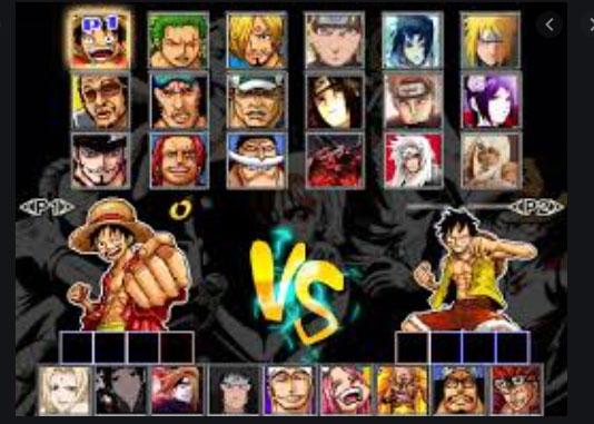 Các nhân vật trong game One Piece vs Naruto 4.0 với những cú đấm huyền thoại sẽ thể hiện uy lực