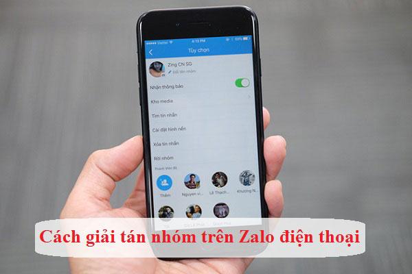 Cách xóa nhóm trên Zalo bằng điện thoại