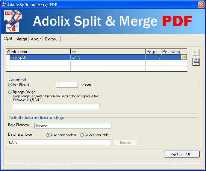 Ghép file PDF thông qua phần mềm Adolix Split and Merge PDF trên máy tính