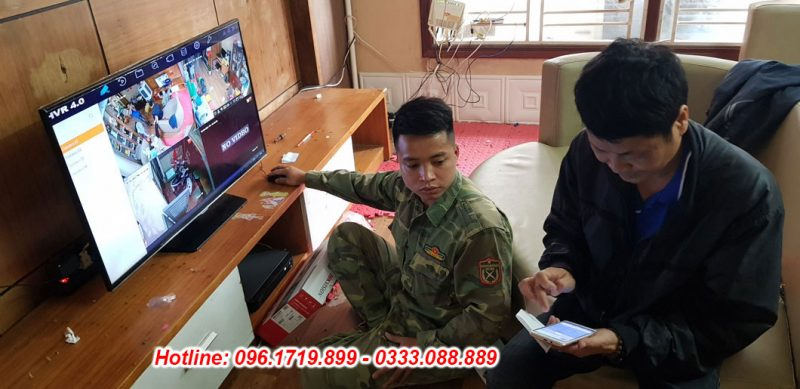 Lắp đặt camera nhà anh Tuấn Ở Vĩnh Hưng- Hoàng Mai