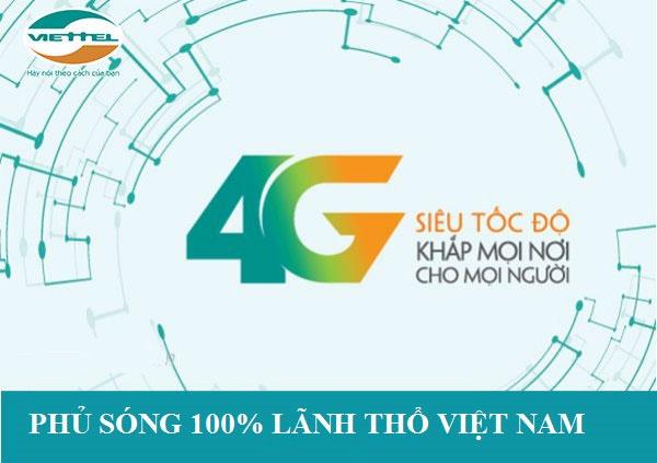 Mạng 4G phủ sóng toàn bộ lãnh thổ Việt Nam