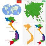 Gợi ý những mẫu bản đồ Việt Nam vector đẹp