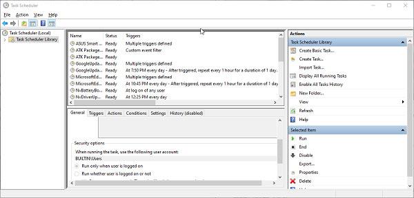 Những bước sử dụng phần mềm Task Scheduler để tắt máy tính tự động.
