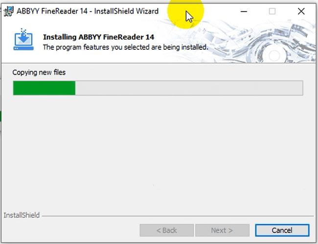 Phần mềm mất một ít phút để hoàn tất cài đặt