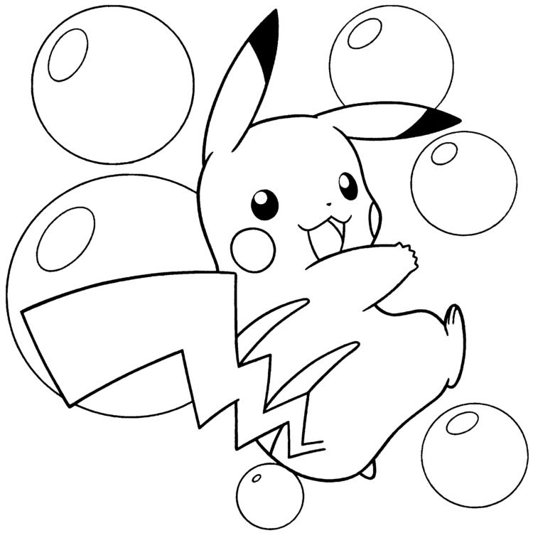 Tranh tô màu Pokemon tinh nghịch