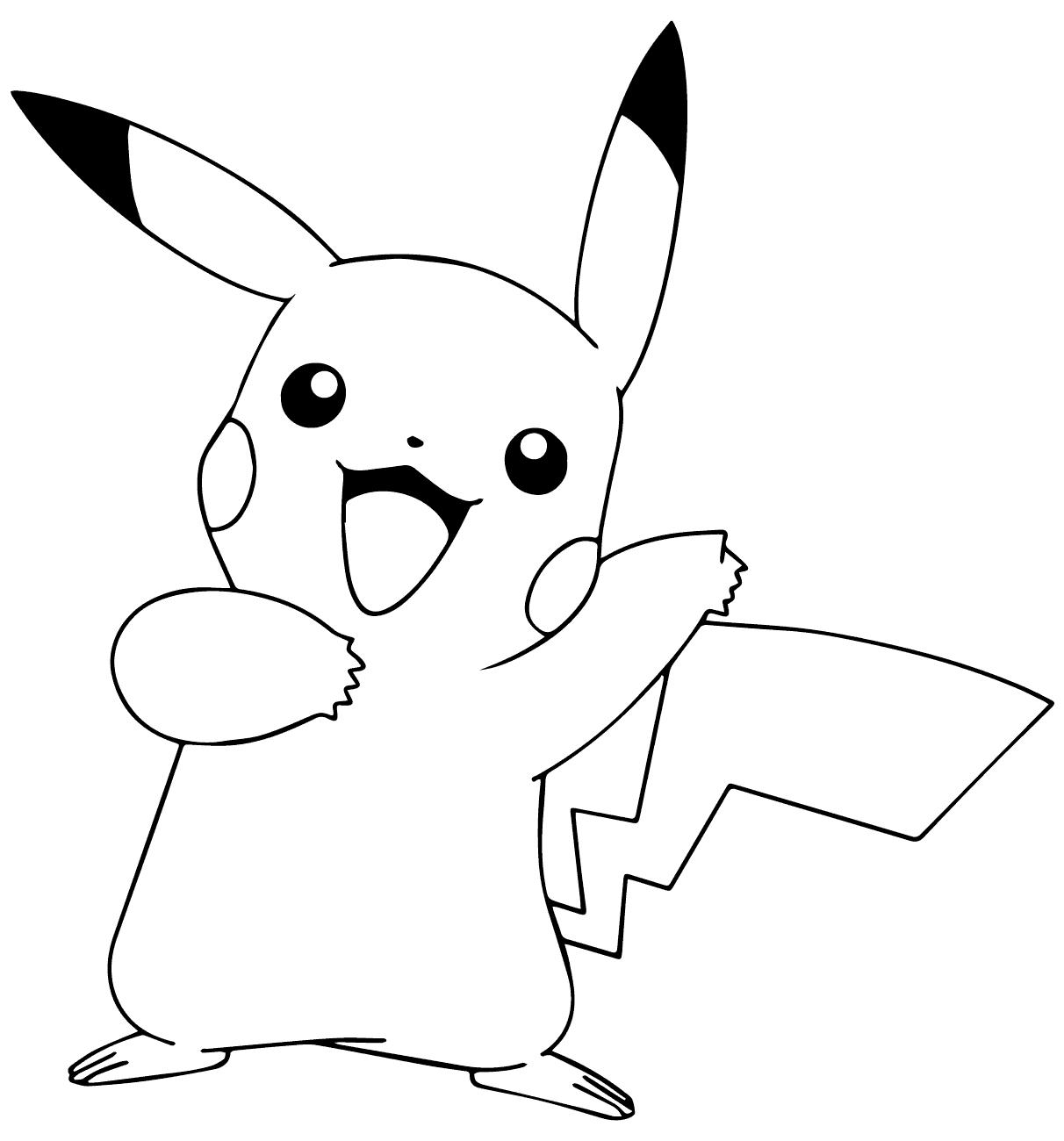 Tranh tô màu Pokemon vui vẻ