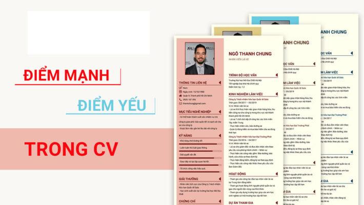 Cách trả lời ưu điểm và nhược điểm của bản thân trong CV rất quan trọng