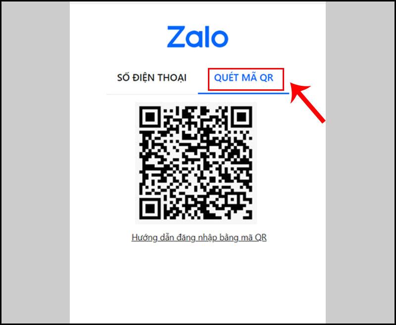 Đăng nhập Zalo PC bằng cách quét mã QR
