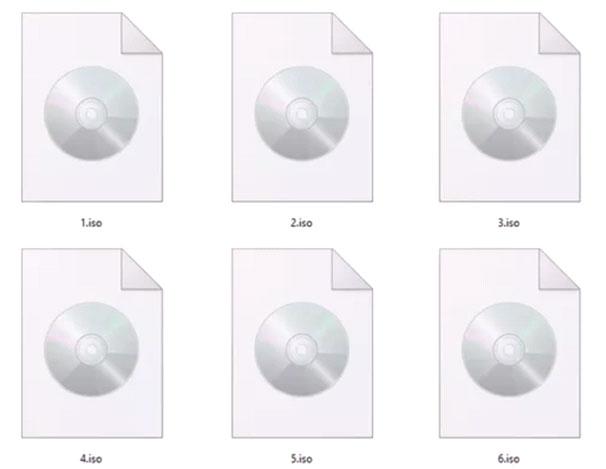 File ISO được lưu trên máy tính