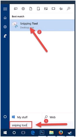 Mở Snipping Tool.