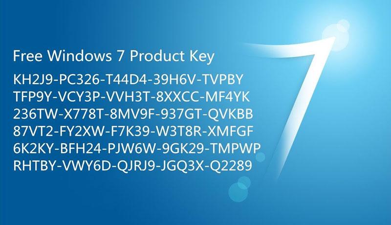Một vài Key Win 7 Free