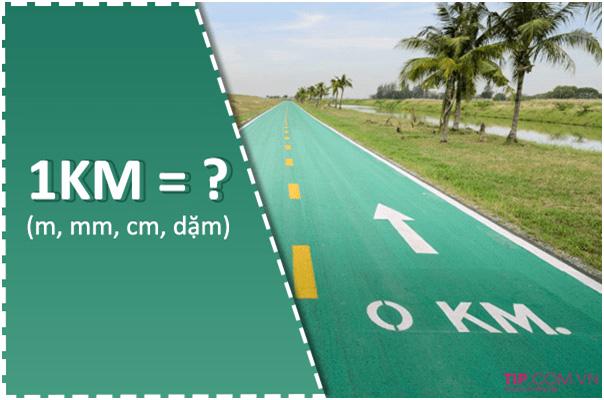 Quy đổi 1km về các đơn vị đo lường khác như thế nào