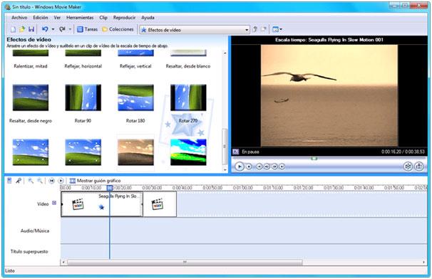Window Movie Maker hỗ trợ tối đa việc xoay video
