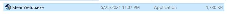 Chạy file SteamSetup.ext