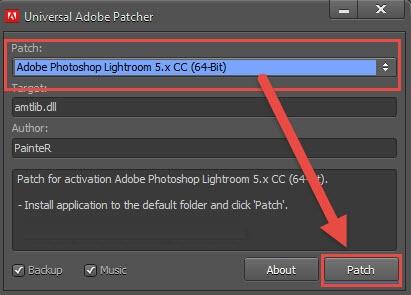 """Chọn tên phần mềm cần tải về và nhấn chọn ô """"Patch"""""""