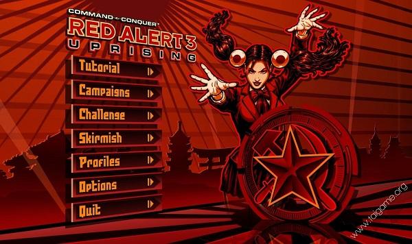 Màn hình game Red Alert 3