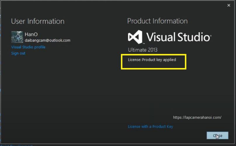 Phần mềm Visual Studio 2013 crack thành công