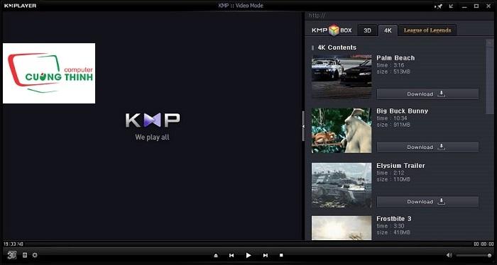 Hình 1 - Phần mềm KMPlayer