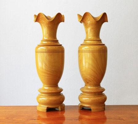 Lọ lộc bình bằng gỗ mít