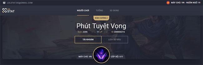 Xem thông tin chi tiết của người chơi
