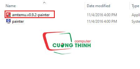 Chạy phần mềm amterm.v0.9.2 - painter