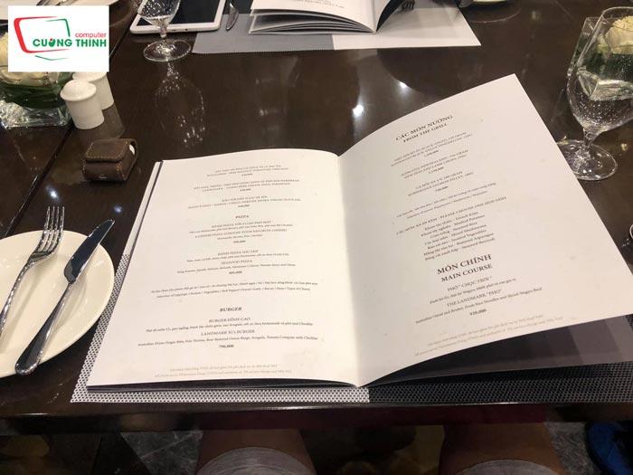 Địa chỉ in menu nhà hàng giá rẻ đẹp tại Tp.HCM