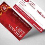 In voucher đẹp giảm giá số lượng ít, mẫu phiếu quà tặng đẹp Tp. HCM