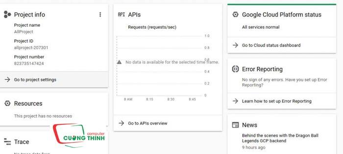 Màn ảnh quản lý API vận dụng
