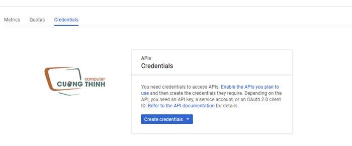 Tạo chứng chỉ Google APIs