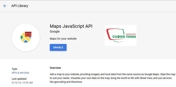 Thư viện Google Map Api Javascript